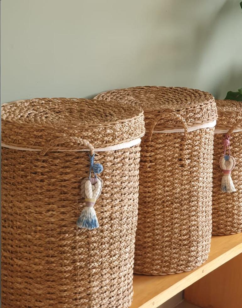 cesta fibra natural